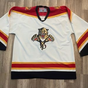 Vintage Auth CCM NHL FL Panthers Hockey Jersey 48